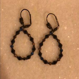 Sorrelli gold and blue earrings